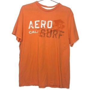 Aeropostale Cali Surf Orange Short Sleeve Shirt